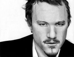 Heath Ledger :: Black Dog by ffxauron