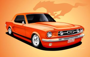 66 Mustang Coupe by dazza-mate