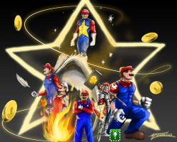 Mario Heros by AveryMoneco