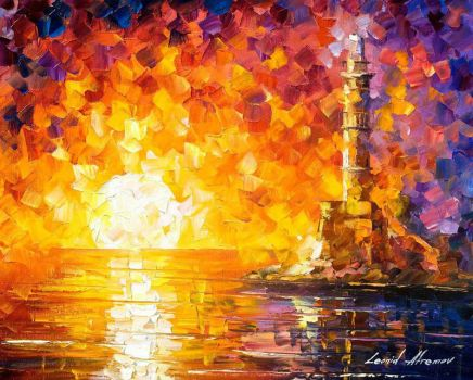 Glimpse To The Sea by Leonid Afremov by Leonidafremov