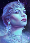 Ice Queen - portrait by Inna-Vjuzhanina