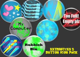 Funky Fresh Button Icons by Isotoperuption