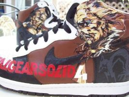Metal Gear Solid 4 Nike Dunks by PattersonArt