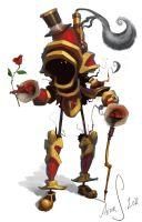 Romantic Steampunkrobot by LandscapeRunner