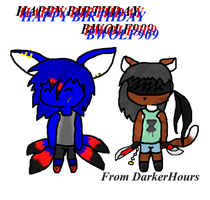 HAPPY BIRTHDAY BWOLF909 by DarkerHours