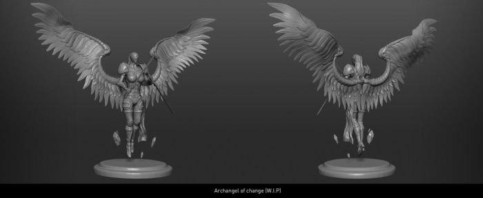 Archangel of change [W.I.P] Version 2 by Leifart