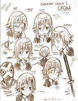 Character sketches- Crona by ukalayli