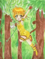 Happy Monkey in the Jungle by Tamao