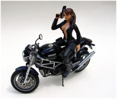 Lara Statue on Ducatti by TheGory1