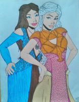 Game of Thrones Girls: Margaery and Daenerys by Slayer730