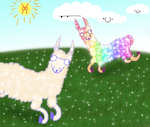 magical llama land by Spottedfire94