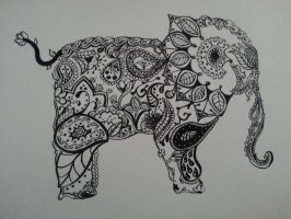 Elephant by tiffdoodles