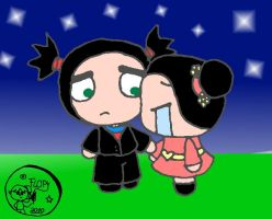 Garu cares for Pucca by FlopyLopez