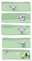 Chicken Comic: Claud Fighting by Khincce