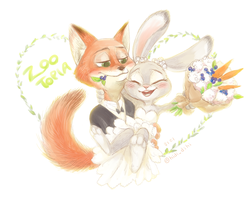 ZOOTOPIA NICK AND JUDY by YoonHIDI