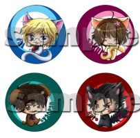 BOOKMARKS . Tsubasa Set by LittleDogStar