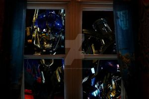 Optimus at my window by MollyDarkheart