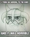 Grumpy Cat x Skyrim by DoomCMYK