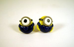 Despicable Me Minion Earrings by sweet-geek