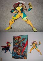 Marvel Vs Capcom 2 Rogue Perler by celticruins