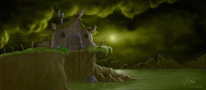 The Witche's Hut (Color) by mootheblueberrypanda