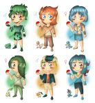 Pokemon starters Gijinka Adoptables (OPEN) by Elisa-J7B