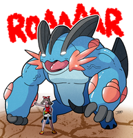 Mega Swampert, Destroyer of Worlds by jpmeshew