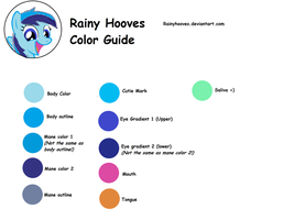 Rainy Hooves Color Guide by RainyHooves