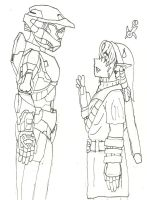 Link meets Master Chief by SketchyBehavior