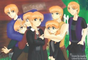 The Weasley Brothers by HogwartsArt