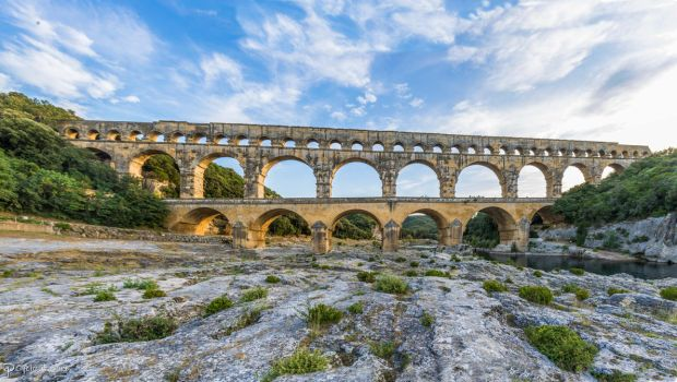 Pont du Gard - northeast side by CyclicalCore