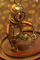 Little Steampunk Minion Robot Sculpture by CatherinetteRings