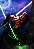 Darth maul Colored by Thepastart