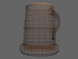 Tankard Wireframe by Immobliss