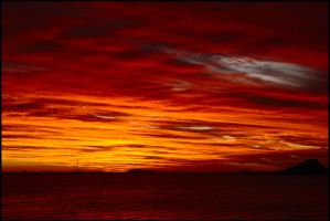 Ocean and sky on fire 2 by wildplaces