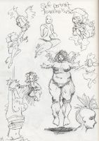 Self Portrait Sketches by BartBar