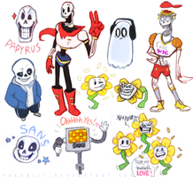 Guess who got into Undertale! by Pheoniic