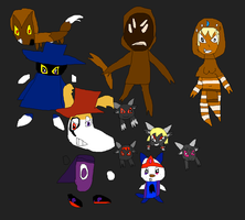Evil Rayman and co by SuperSmashCynderLum