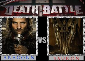 Timbox's Dream Death Battle: Aragorn versus Sauron by timbox129