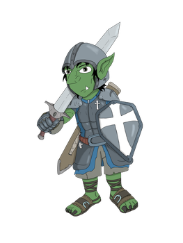 Goblin Paladin by scrap-paper22