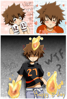 tsuna doodles XDD and H. B-day by irask