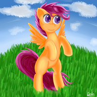 Scootaloo ready to take off by Dragonfoorm
