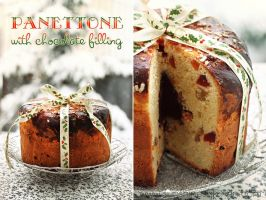 Panettone with chocolate filling by kupenska