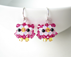 Baby Owl Earrings by SparkleMeHappy