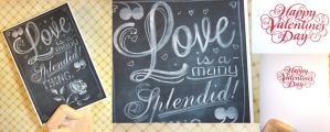 Card: Love is a Splendid Thing - Chalkart by kendravixie