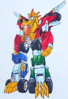 FELINE MACHINE MEGAZORD by kishiaku