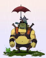 dota2 In the rain by biggreenpepper