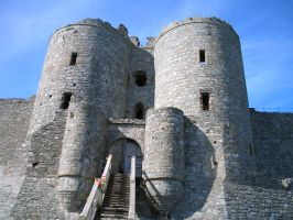 Harlech castle gatehouse by mikey900