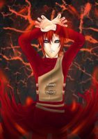 Gaara's Inferno by Dshroom