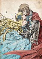 The Knight and Empress by aomarine